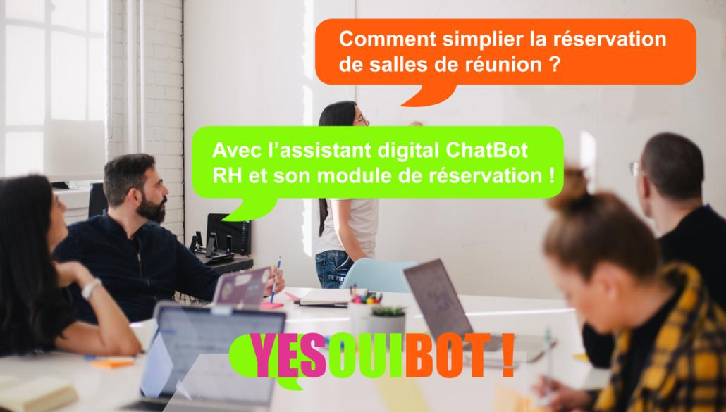 Reserver une salle de réunion n'a jamais été aussi simple avec le ChatBot RH